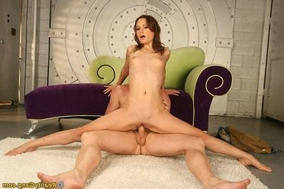Flexy prostitute receives her holes screwed heavy and takes a spunk flow on her tongue