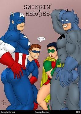 Cap America Robin increased by Batman