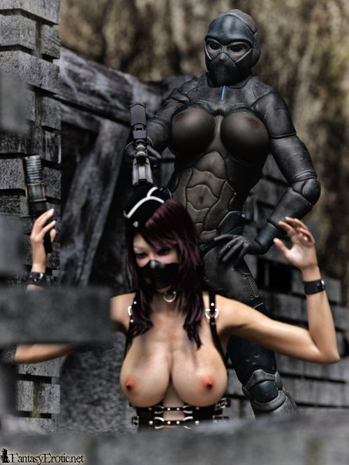 Wow, that 3d comics with busty ninja babe is very hot!