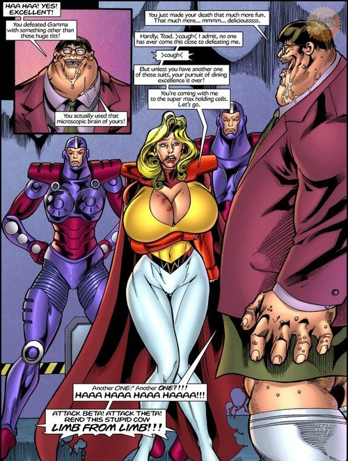 Superheroine Central- Swaggering cow - attaching 3