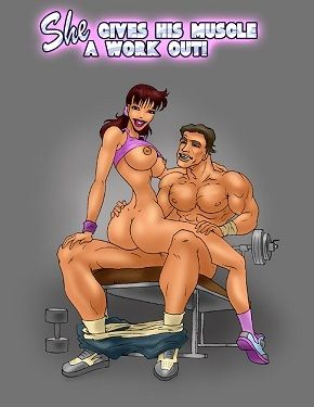 She Gives His Lend substance a Limber up
