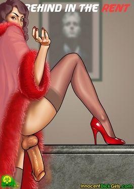 Innocent Dickgirls- Behind The Rent