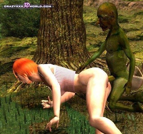A redhead doing a troll in in fantasy comics