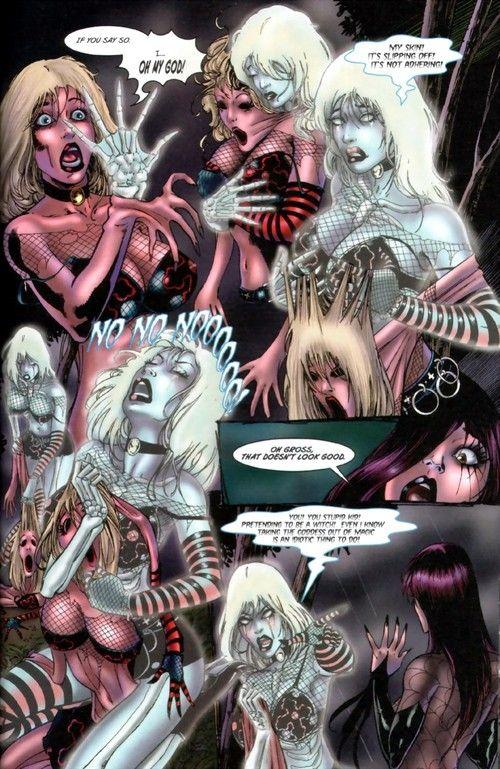 Basic comics with beautiful lesbian dolls