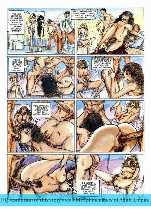 Girls sharing cock in burnish apply hottest sex comics