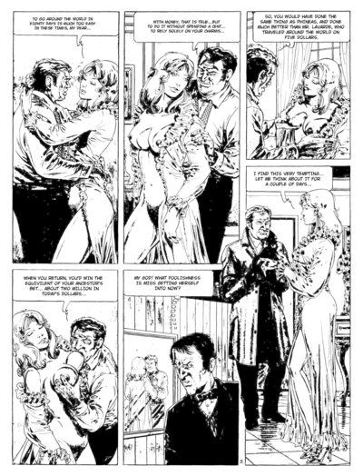 Black and white sex comics with horny babes