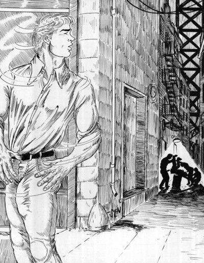 Street guys wildly ravish the comics ass